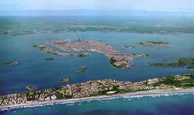 Venice lido tourism, cultural events, beach and sports